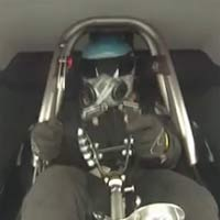 Drag racer loses steering wheel at 200 mph