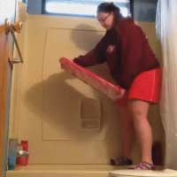 Hoverboard girl fail bathtub