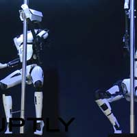 Robotic pole dancers creepy